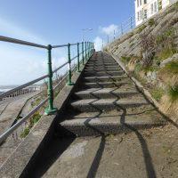 zigzag shadows on steps