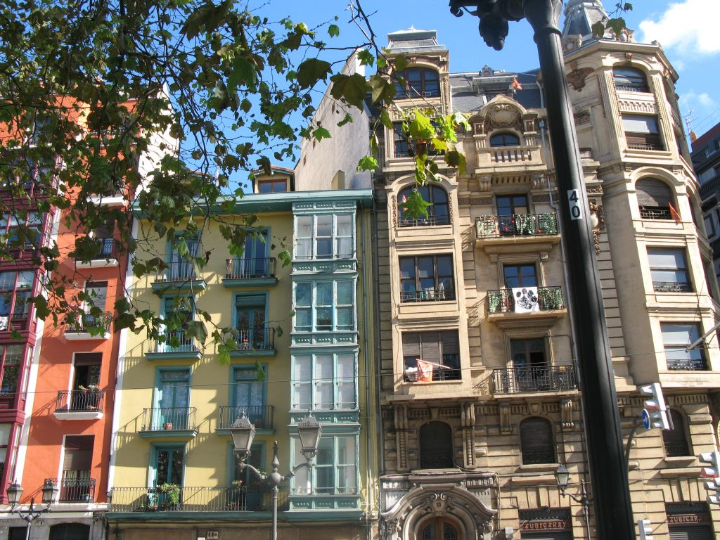 building facade - balconies