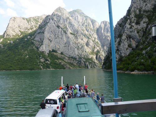 ferry travelling up lake